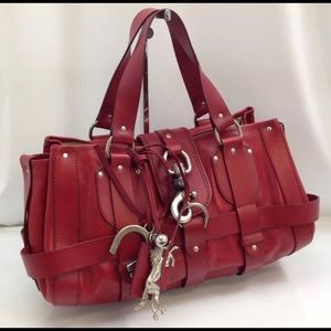 Chloe authentic red leather bag - final sale.